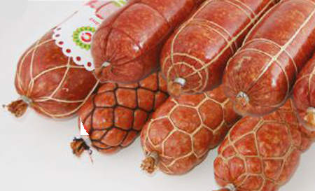 Фиброузная колбасная оболочка Вальсродер Планэт с сеткой и прошивкой